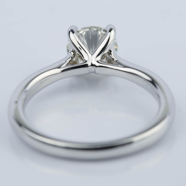 Taper Solitaire Round Cut Diamond Engagement Ring (1.05 ct.) angle 4