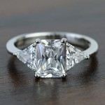 Tapered 2.21 Carat Radiant & Trillion Diamond Engagement Ring - small
