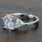 Tapered 2.21 Carat Radiant & Trillion Diamond Engagement Ring - small angle 2