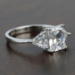 Tapered 2.21 Carat Radiant & Trillion Diamond Engagement Ring - small angle 3