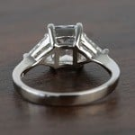 Tapered 2.21 Carat Radiant & Trillion Diamond Engagement Ring - small angle 4