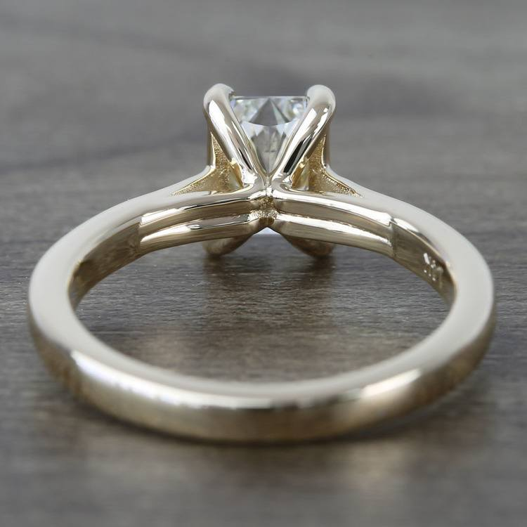 Tapered Solitaire 1.40 Carat Radiant Diamond Engagement Ring angle 4