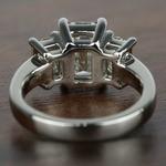 Three-Stone Emerald Diamond Engagement Ring (2.50 Carat) - small angle 4