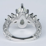 Three-Stone Pear Diamond Vintage Engagement Ring (3 Carat) - small angle 4