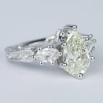 Three-Stone Pear Diamond Vintage Engagement Ring (3 Carat) - small angle 3