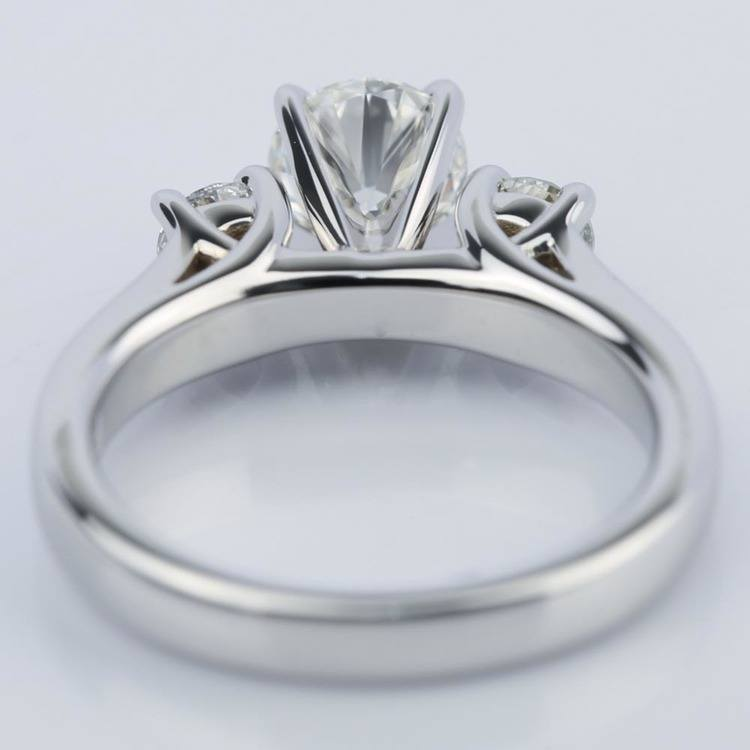 Three-Stone Diamond Engagement Ring in White Gold (0.62 ct.) angle 4