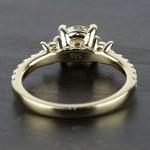 Three-Stone Diamond Scallop Engagement Ring (1 Carat) - small angle 4