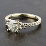 Three-Stone Diamond Scallop Engagement Ring (1 Carat) - small angle 2