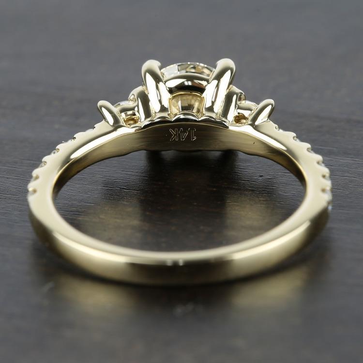 Three-Stone Diamond Scallop Engagement Ring (1 Carat) angle 4