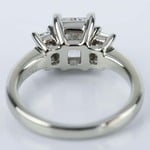 Three Stone Emerald Engagement Ring with Radiant Diamond - small angle 4