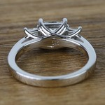 Three Stone Princess Trellis Diamond Engagement Ring (1.50 Carat) - small angle 4
