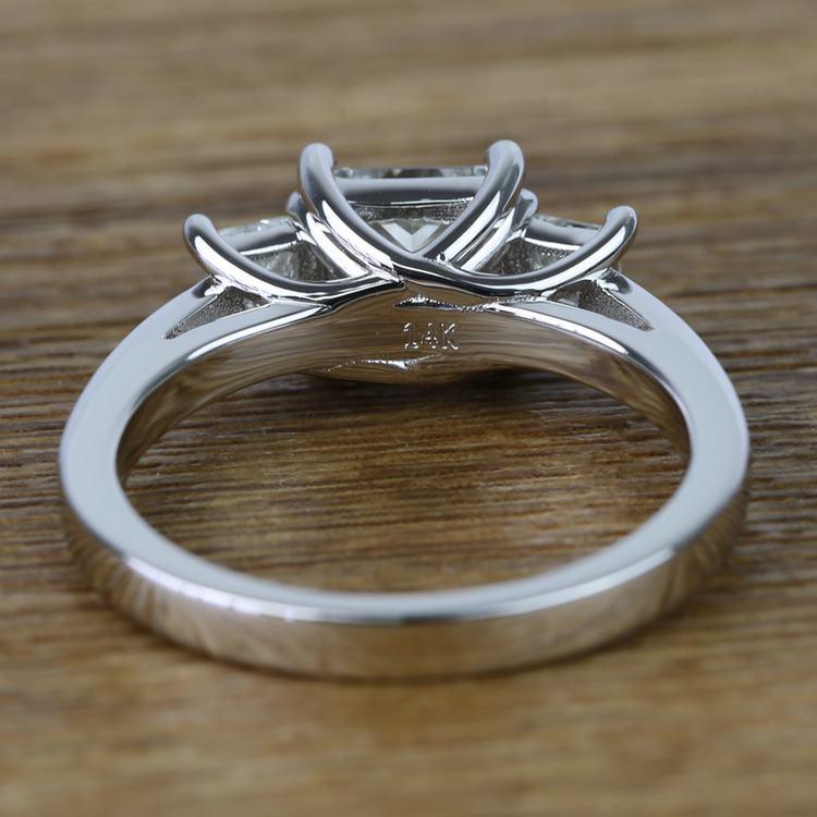 Three Stone Princess Trellis Diamond Engagement Ring (1.50 Carat) angle 4