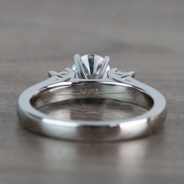 Three-Stone Round Diamond Engagement Ring in Platinum  angle 4