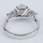 Three-Stone Trellis Oval Diamond Engagement Ring (1.70 ct.) - small angle 4