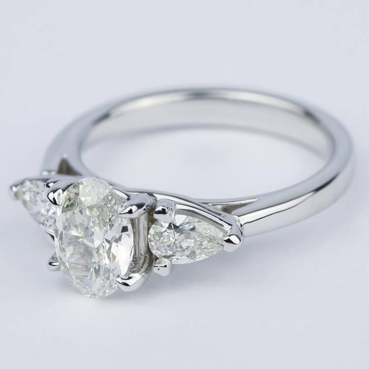 Three-Stone Trellis Oval Diamond Engagement Ring (1.70 ct.) angle 2