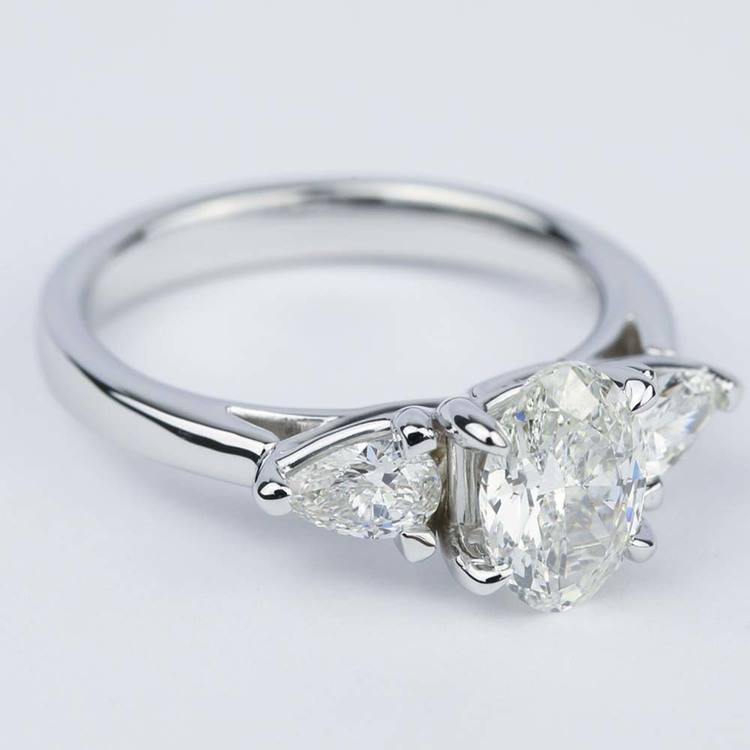 Three-Stone Trellis Oval Diamond Engagement Ring (1.70 ct.) angle 3