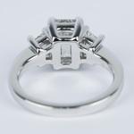 Emerald Diamond Engagement Ring with Trapezoid Diamonds (1.53 Carat) - small angle 4