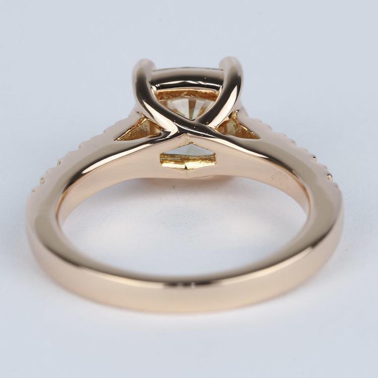 Rose Gold Trellis Engagement Ring with Cushion Diamond angle 4