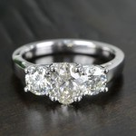 Oval & Round Three Diamond Engagement Ring (2 Carat) - small