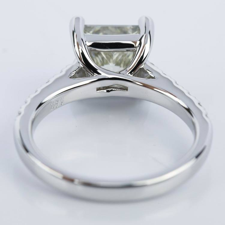 Trellis 2.01 Carat Princess Diamond Engagement Ring in White Gold angle 4