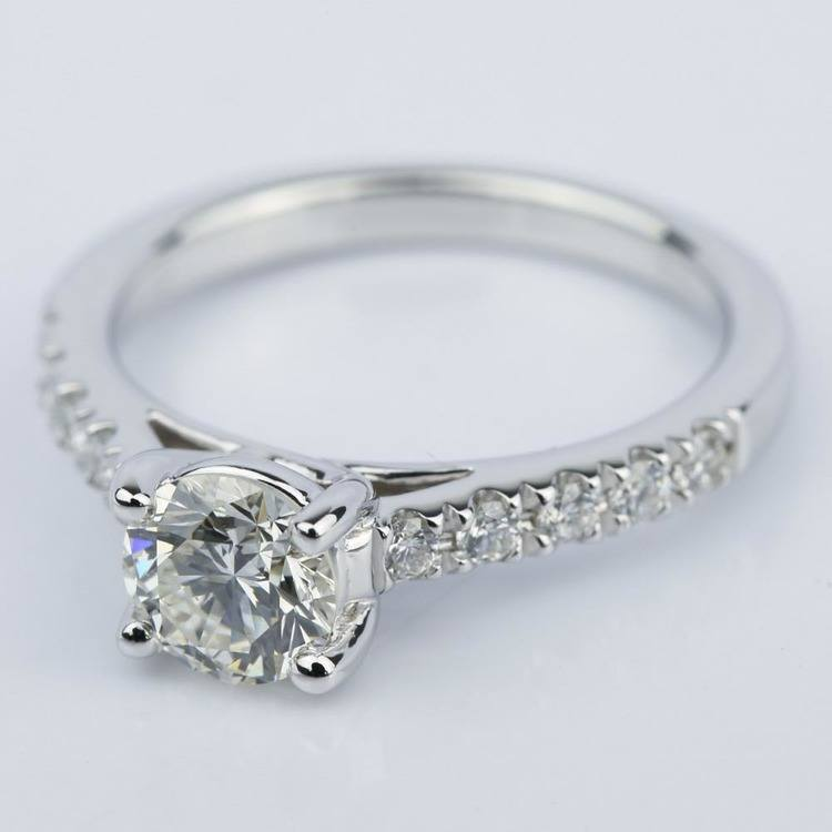 Trellis Diamond Engagement Ring in White Gold (0.84 ct.) angle 2