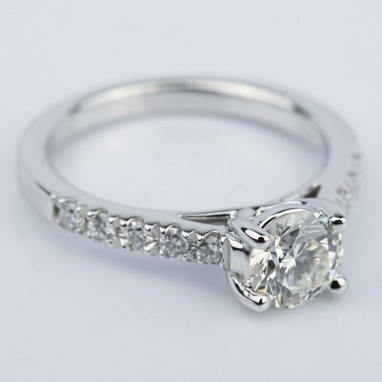 Trellis Diamond Engagement Ring in White Gold (0.84 ct.) angle 3