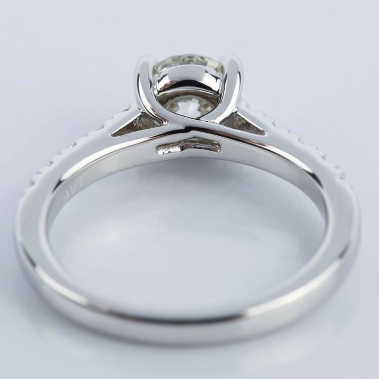 Trellis Diamond Engagement Ring in White Gold (0.84 ct.) angle 4