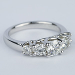 Trellis Five Diamond Engagement Ring in 18K White Gold (0.57 ct.) - small angle 3
