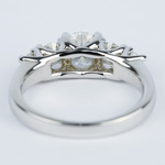 Trellis Five Diamond Engagement Ring in 18K White Gold (0.57 ct.) - small angle 4