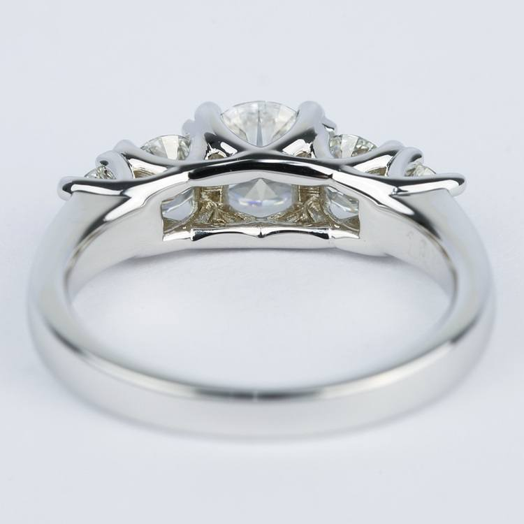 Trellis Five Diamond Engagement Ring in 18K White Gold (0.57 ct.) angle 4