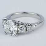 Trellis Five-Diamond Engagement Ring (2 Carat Center) - small angle 2