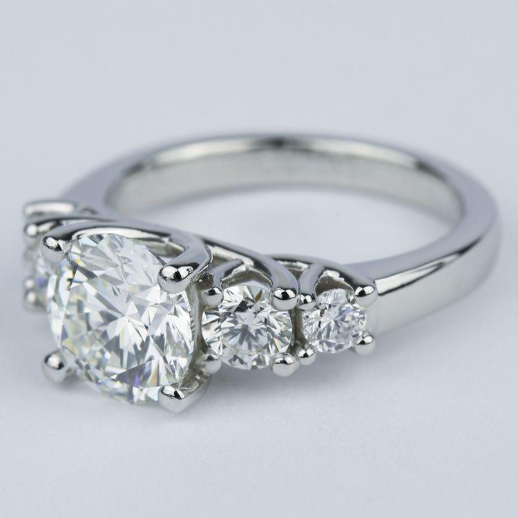 Trellis Five Diamond Engagement Ring 2 Carat Center
