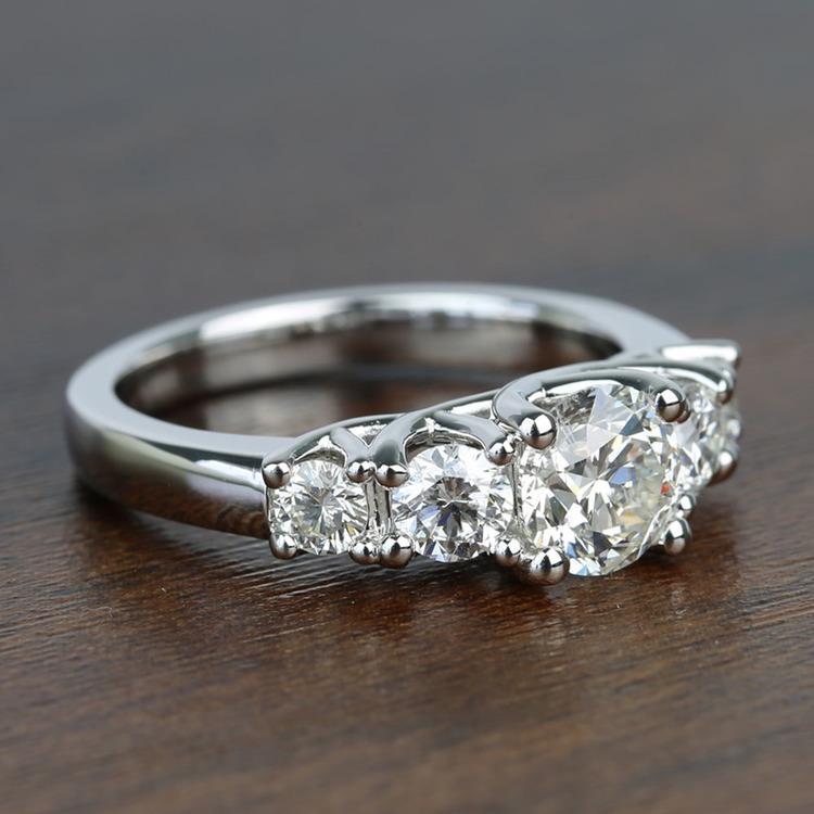 Trellis Five Stone 1 Carat Round Diamond Engagement Ring angle 3