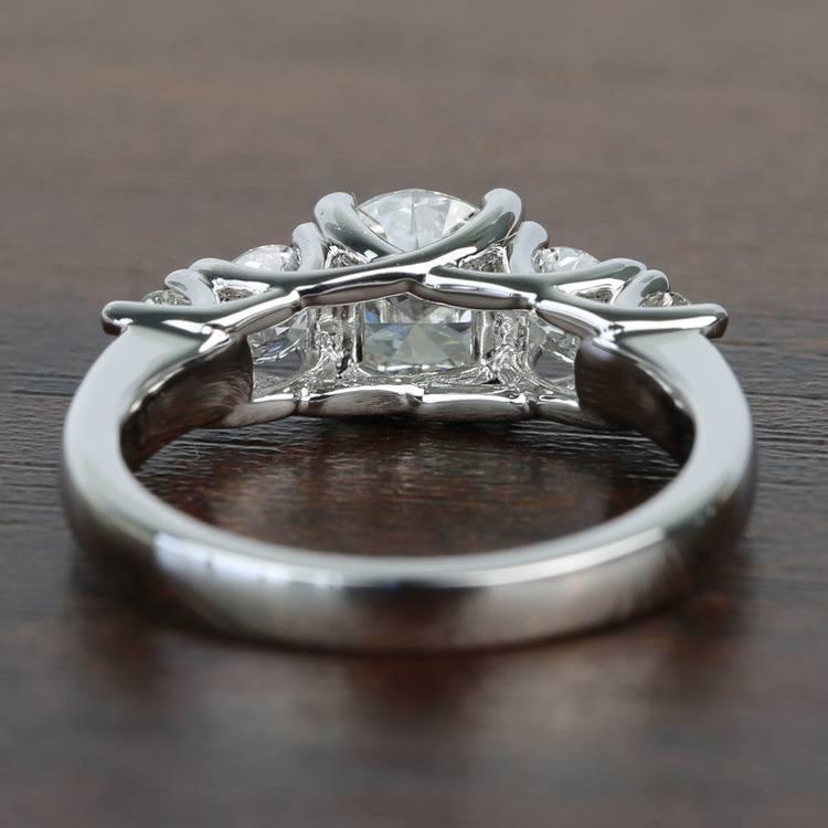 Trellis Five Stone 1 Carat Round Diamond Engagement Ring angle 4