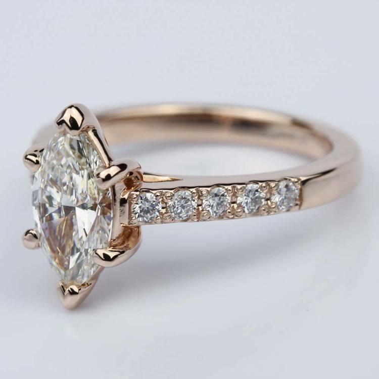 Trellis Marquise Diamond Engagement Ring (1.20 ct.) angle 2