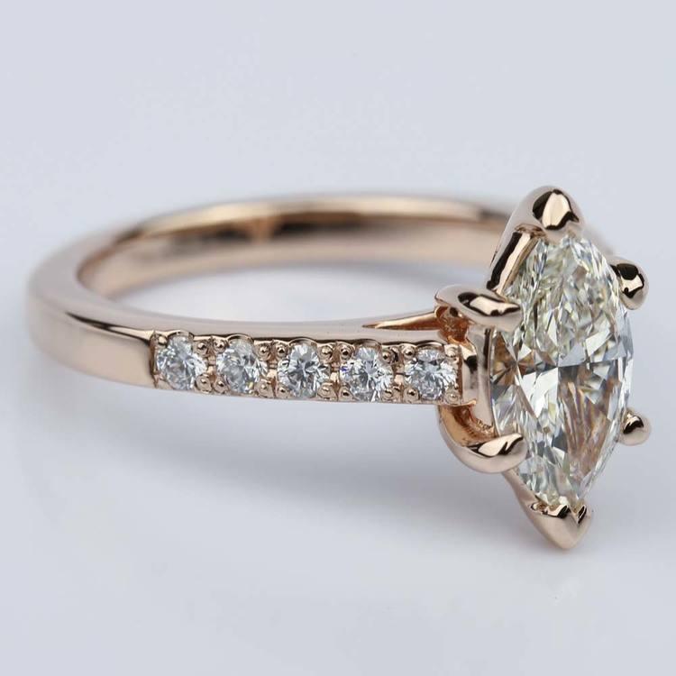 Trellis Marquise Diamond Engagement Ring (1.20 ct.) angle 3