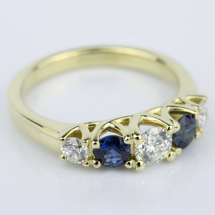 Trellis Sapphire and Diamond Gemstone Engagement Ring (0.32 ct.) angle 3