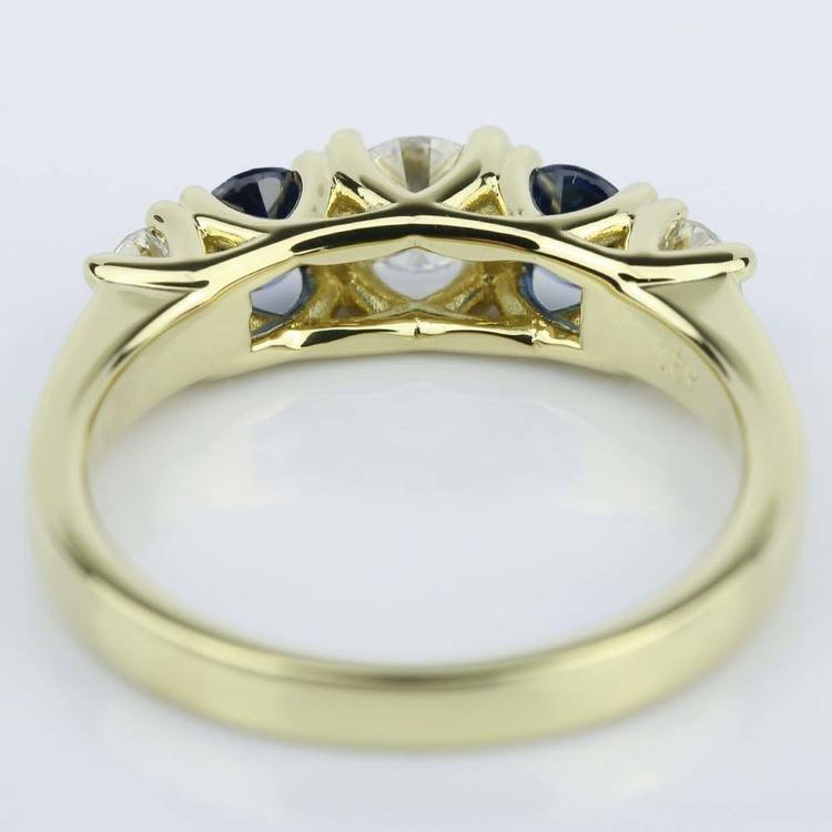 Trellis Sapphire and Diamond Gemstone Engagement Ring (0.32 ct.) angle 4
