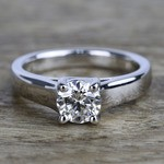 Trellis Solitaire Diamond Engagement Ring In White Gold (1 Carat) - small