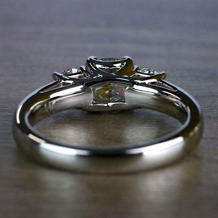 Trellis Three Diamond Cushion Engagement Ring angle 4