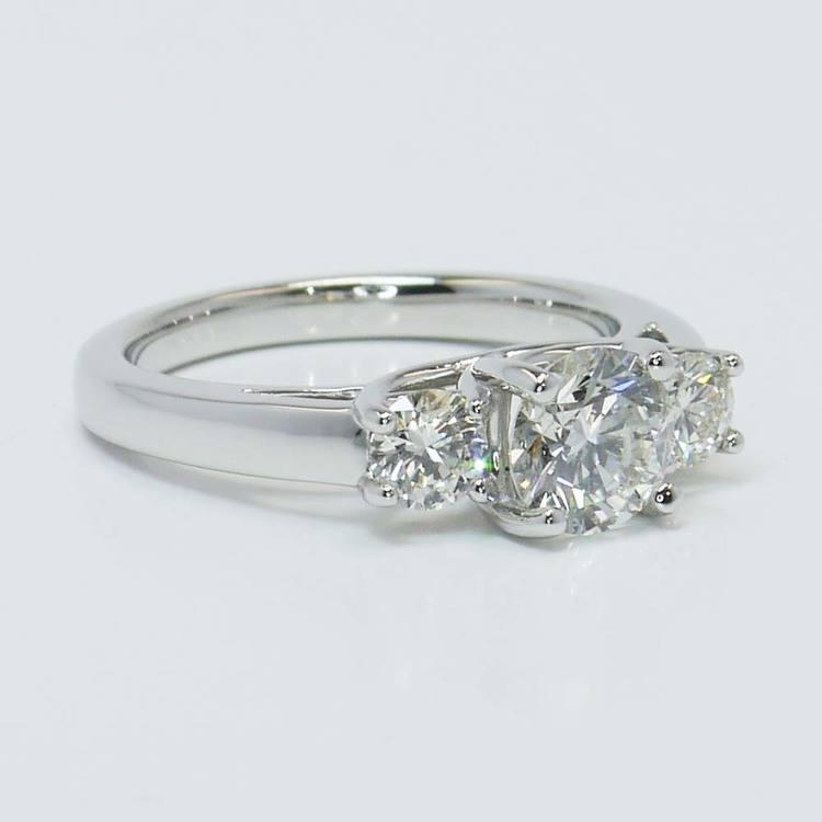 Three Round Trellis Diamond Engagement Ring (1 Carat) angle 3