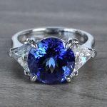 Tremendous 5 Carat Tanzanite Gemstone Custom Ring - small
