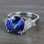 Tremendous 5 Carat Tanzanite Gemstone Custom Ring - small angle 2