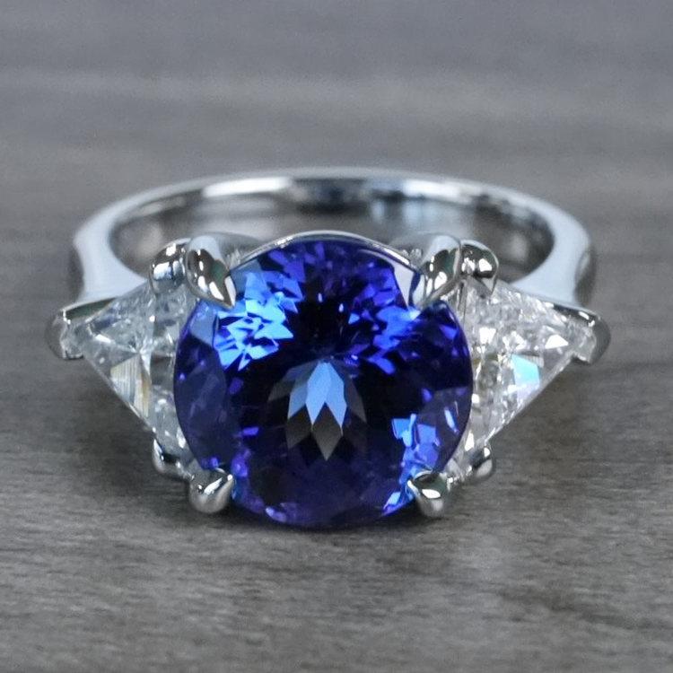 Tremendous 5 Carat Tanzanite Gemstone Custom Ring