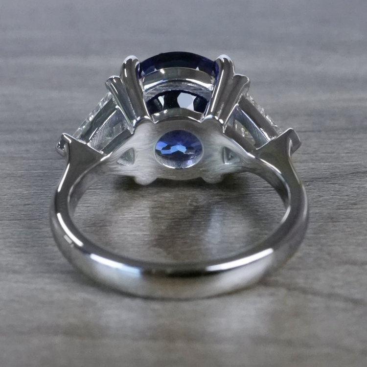 Tremendous 5 Carat Tanzanite Gemstone Custom Ring angle 4