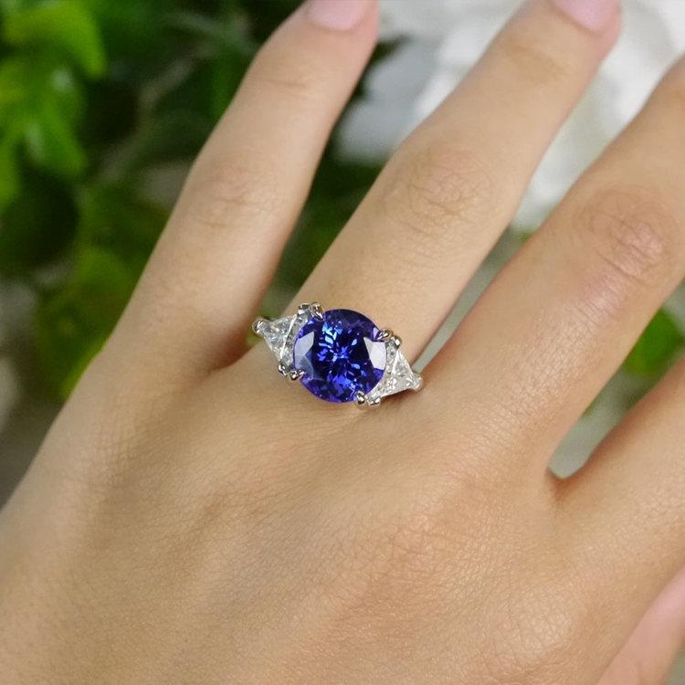 Tremendous 5 Carat Tanzanite Gemstone Custom Ring | 06
