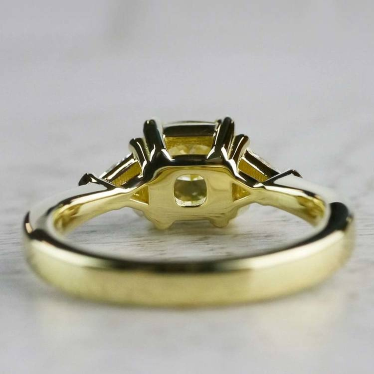 Fancy Light Yellow Diamond Engagement Ring In Yellow Gold angle 4