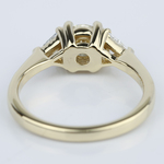 Trillion Three-Diamond Engagement Ring in Yellow Gold (0.72 ct.) - small angle 4