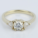 Trillion Three-Diamond Engagement Ring in Yellow Gold (0.72 ct.) - small