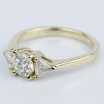 Trillion Three-Diamond Engagement Ring in Yellow Gold (0.72 ct.) - small angle 2